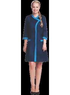 Халат «Сакура» т.синий-голубой