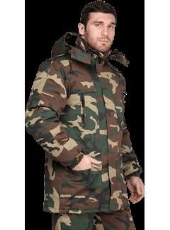 Куртка «Турист» утеплённая, кмф зеленый