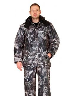 Костюм мужской «Тайга» утепленный (куртка + п/к) кмф т.Алова мембрана «Серый лес»