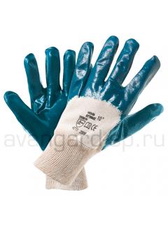 Перчатки нитриловые полуобливные с мягким манжетом (Эконом)